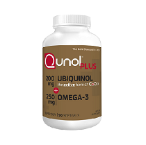 Qunol Plus Extra strength  Ubiquinol 200 mg+Omega3 (แบ่งขาย 30 เม็ด)